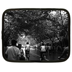 Vintage China Shanghai street 1970 13  Netbook Case