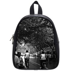 Vintage China Shanghai street 1970 Small School Backpack