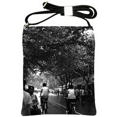 Vintage China Shanghai street 1970 Cross Shoulder Sling Bag