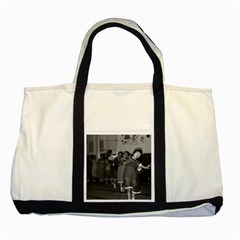 Vintage China Shanghai child care 1970 Two Toned Tote Bag