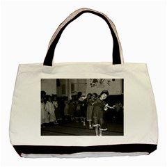 Vintage China Shanghai child care 1970 Twin-sided Black Tote Bag