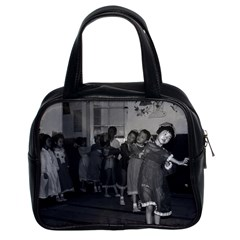 Vintage China Shanghai child care 1970 Twin-sided Satchel Handbag