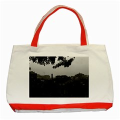 Vintage China Shanghai City 1970 Red Tote Bag