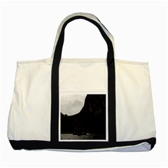 Vintage China Guilin River Boat 1970 Two Toned Tote Bag