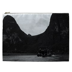 Vintage China Guilin River Boat 1970 Cosmetic Bag (xxl)