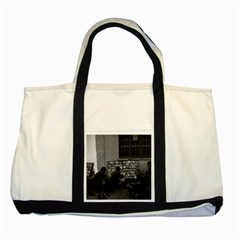 Vintage China Changsha book lending 1970 Two Toned Tote Bag