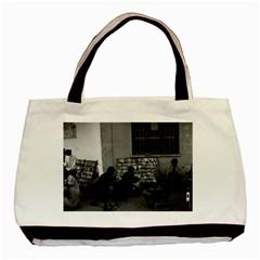 Vintage China Changsha book lending 1970 Twin-sided Black Tote Bag