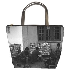 Vintage China Changsha book lending 1970 Bucket Handbag