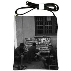 Vintage China Changsha Book Lending 1970 Cross Shoulder Sling Bag