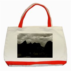 Vintage China Guilin river boat 1970 Red Tote Bag