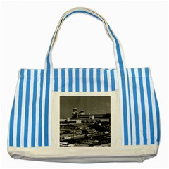 Vintage Germany Berlin The Tegel Airport 1970 Blue Striped Tote Bag