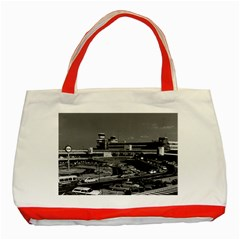 Vintage Germany Berlin The Tegel Airport 1970 Red Tote Bag