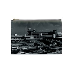 Vintage Germany Berlin The Tegel Airport 1970 Medium Makeup Purse