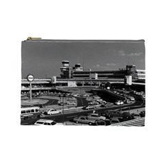Vintage Germany Berlin The Tegel Airport 1970 Large Makeup Purse