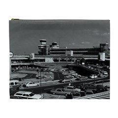 Vintage Germany Berlin The Tegel Airport 1970 Extra Large Makeup Purse