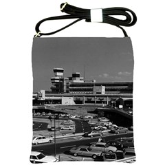 Vintage Germany Berlin The Tegel Airport 1970 Cross Shoulder Sling Bag