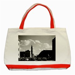 Vintage Germany ludwigstra?e University ludwing church Red Tote Bag