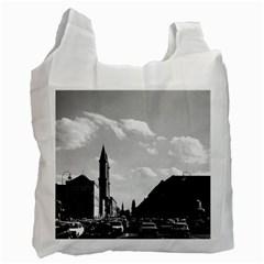 Vintage Germany Ludwigstra?e University Ludwing Church Single Sided Reusable Shopping Bag