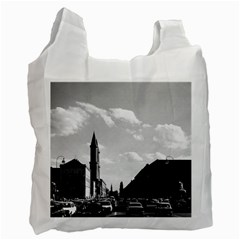 Vintage Germany ludwigstra?e University ludwing church Twin-sided Reusable Shopping Bag