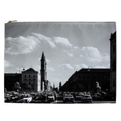 Vintage Germany Ludwigstra?e University Ludwing Church Cosmetic Bag (xxl)