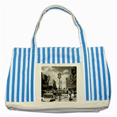 Vintage Germany Munich Towngate Karistor 1970 Blue Striped Tote Bag
