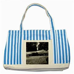 Vintage Germany Munich Deutsch Museum Starfighter 1970 Blue Striped Tote Bag