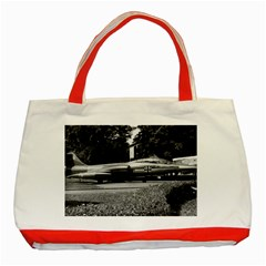 Vintage Germany Munich Deutsch Museum starfighter 1970 Red Tote Bag