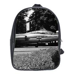 Vintage Germany Munich Deutsch Museum starfighter 1970 School Bag (XL)