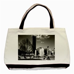 Vintage Germany Munich Sendlinger Tor Platz  Matth?us Twin Sided Black Tote Bag
