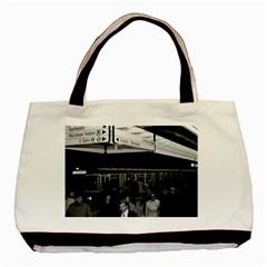 Vintage Germany Munich Underground Station Marienplatz Black Tote Bag