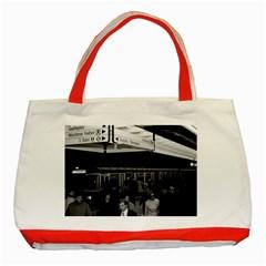 Vintage Germany Munich Underground Station Marienplatz Red Tote Bag