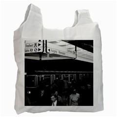 Vintage Germany Munich Underground Station Marienplatz Twin Sided Reusable Shopping Bag