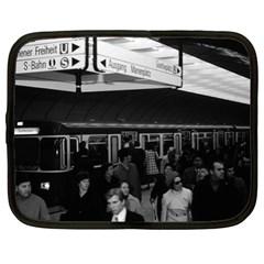 Vintage Germany Munich Underground Station Marienplatz 13  Netbook Case