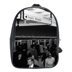 Vintage Germany Munich Underground Station Marienplatz School Bag (XL)