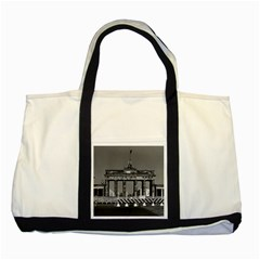 Vintage Germany Berlin Brandenburg Gate 1970 Two Toned Tote Bag