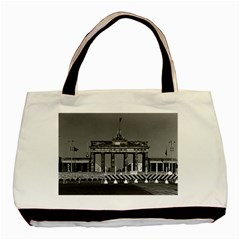 Vintage Germany Berlin Brandenburg Gate 1970 Twin Sided Black Tote Bag