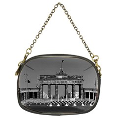 Vintage Germany Berlin Brandenburg Gate 1970 Twin-sided Evening Purse