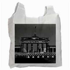 Vintage Germany Berlin Brandenburg Gate 1970 Single Sided Reusable Shopping Bag