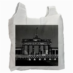 Vintage Germany Berlin Brandenburg Gate 1970 Twin Sided Reusable Shopping Bag