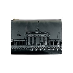 Vintage Germany Berlin Brandenburg Gate 1970 Medium Makeup Purse
