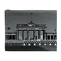 Vintage Germany Berlin Brandenburg Gate 1970 Extra Large Makeup Purse