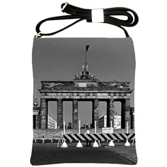 Vintage Germany Berlin Brandenburg Gate 1970 Cross Shoulder Sling Bag