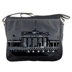 Vintage Germany Berlin Brandenburg Gate 1970 Messenger Bag