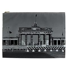 Vintage Germany Berlin Brandenburg Gate 1970 Cosmetic Bag (xxl)