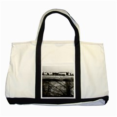 Vintage Germany Berlin Wall 1970 Two Toned Tote Bag