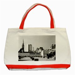 Vintage Germany Frankfurt Old Saint Nicholas Church Red Tote Bag