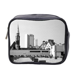Vintage Germany Frankfurt Old Saint Nicholas Church Twin-sided Cosmetic Case