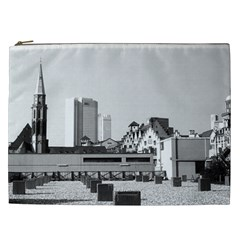 Vintage Germany Frankfurt Old Saint Nicholas Church Cosmetic Bag (XXL)