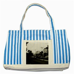 Vintage Germany Frankfurt Opera 1970 Blue Striped Tote Bag