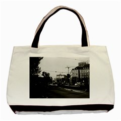 Vintage Germany Frankfurt opera 1970 Twin-sided Black Tote Bag